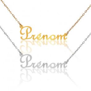 Collier Prénom personnalisé en or jaune ou blanc