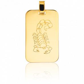 Pendentif Plaque G.I Scorpion Or Jaune 18K