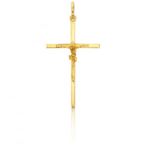 Christ en Croix Fil Carré Or Jaune 9K