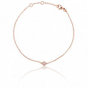 Bracelet Serti Clos Or Rose