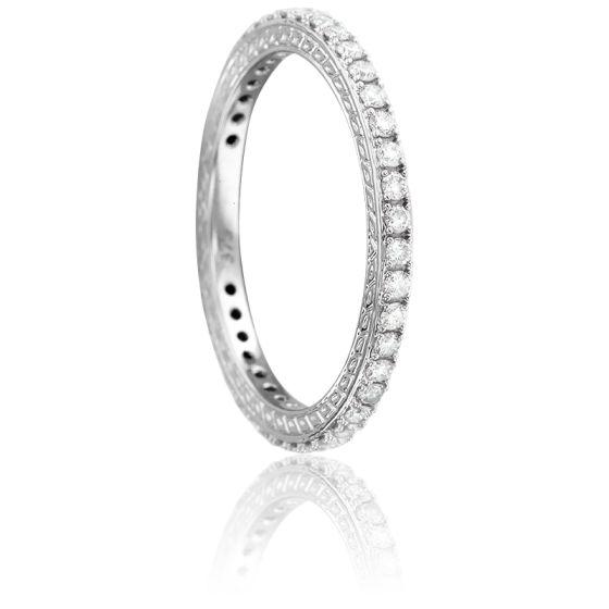 Bague Sarasvatî Or Blanc et Diamants 0.50 ct