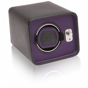 Remontoir Simili Cuir Noir Violet Windsor 1 Montre