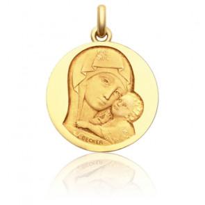 Médaille Notre Dame de Tendresse Or jaune 18K