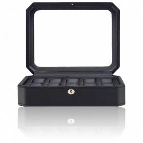 Coffret Simili Cuir Noir Windsor 10 montres