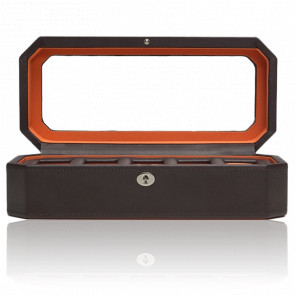 Coffret Simili Cuir Marron Orange Windsor 5 montres