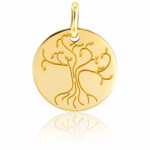 Médaille Arbre de Vie Bonheur Or Jaune 18K