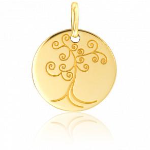 Médaille Arbre de Vie Fantaisie Or Jaune 18K
