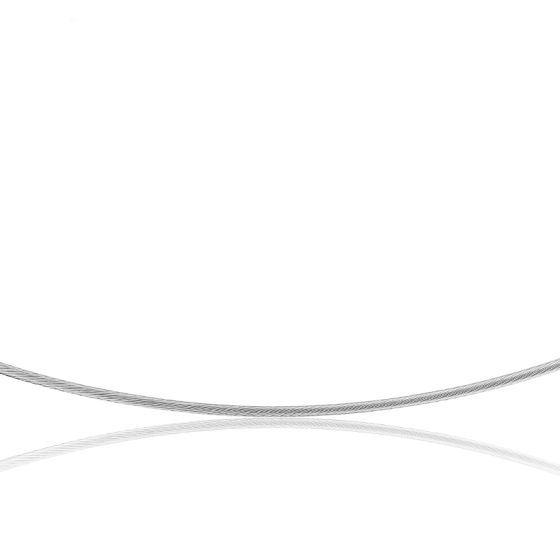 Collier Câble Cléophée, Or blanc 18k, longueur 45 cm