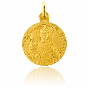 Médaille Saint Victor Or Jaune 18K