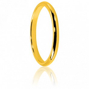 Alliance Demi Jonc 2 mm Or Jaune 18K