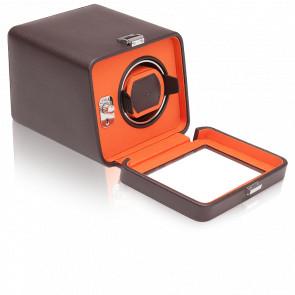 Remontoir Simili Cuir Marron Orange Windsor 1 Montre avec Couvercle