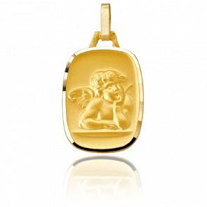 Médaille Ange Tonneau Or jaune 18K