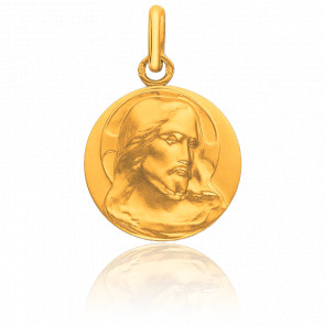 Médaille Christ de Face Or Jaune 9K