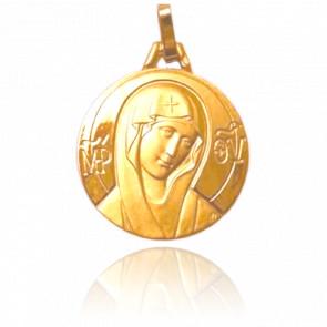 Médaille Vierge Romane Or Jaune 18K