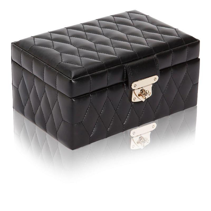 petite boite bijoux cuir noir caroline wolf ocarat. Black Bedroom Furniture Sets. Home Design Ideas