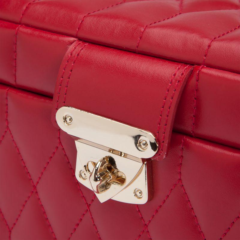 large boite bijoux cuir rouge caroline wolf ocarat. Black Bedroom Furniture Sets. Home Design Ideas
