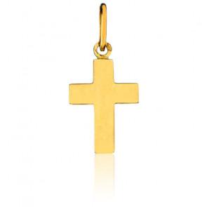 Petite Croix Plate Or jaune 18K