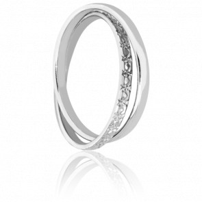 Alliance Sefid Roud Or Blanc 18K Diamantée