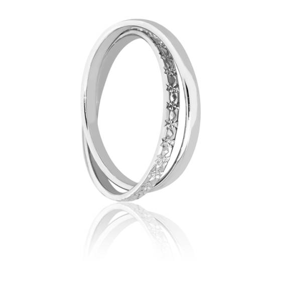 Alliance Sefid Roud Diamantée Or Blanc 18K