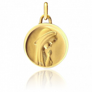 Médaille Vierge Priant Or jaune 18K