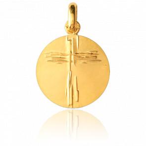 Médaille Croix de Lay Or Jaune 18K