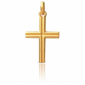 Croix Godronnée Or Jaune 18K