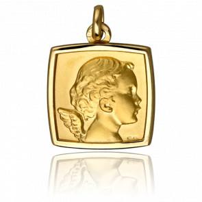 Médaille Chérubin Carrée Or Jaune 18K