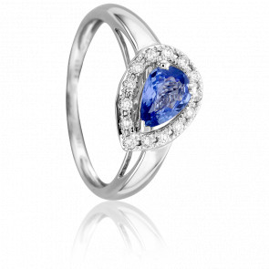 Bague Goutte Diamantée Saphir & Diamants