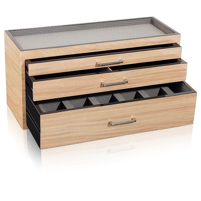 boite montre bois beige meridian wolf ocarat. Black Bedroom Furniture Sets. Home Design Ideas