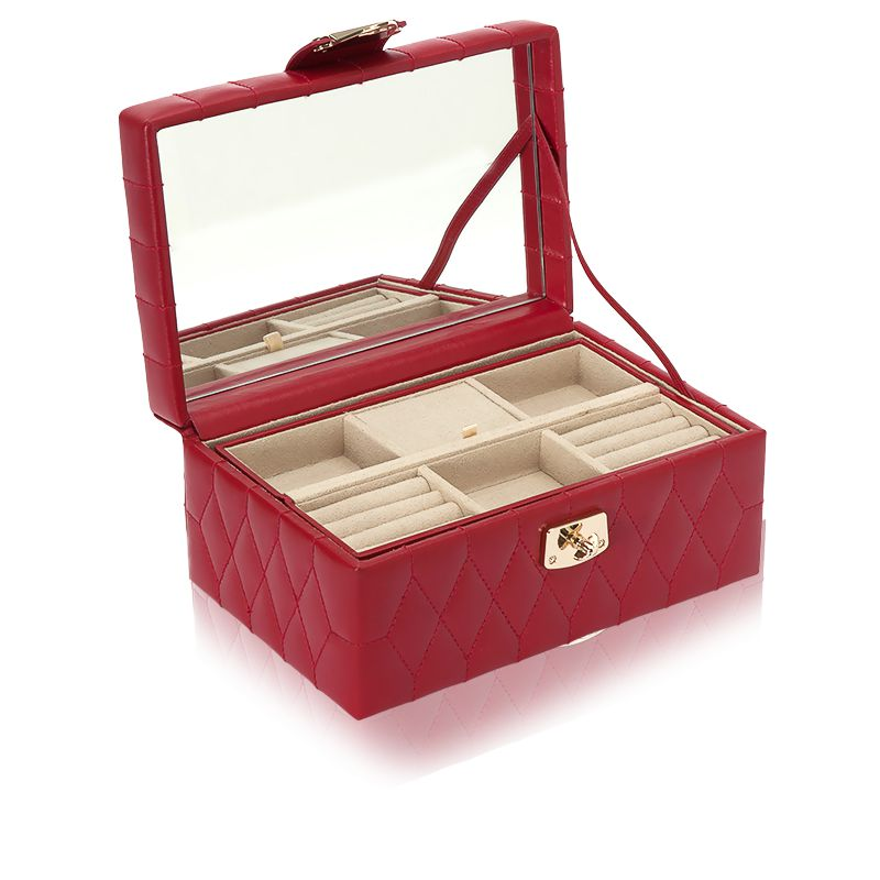 petite boite bijoux cuir rouge caroline wolf ocarat. Black Bedroom Furniture Sets. Home Design Ideas