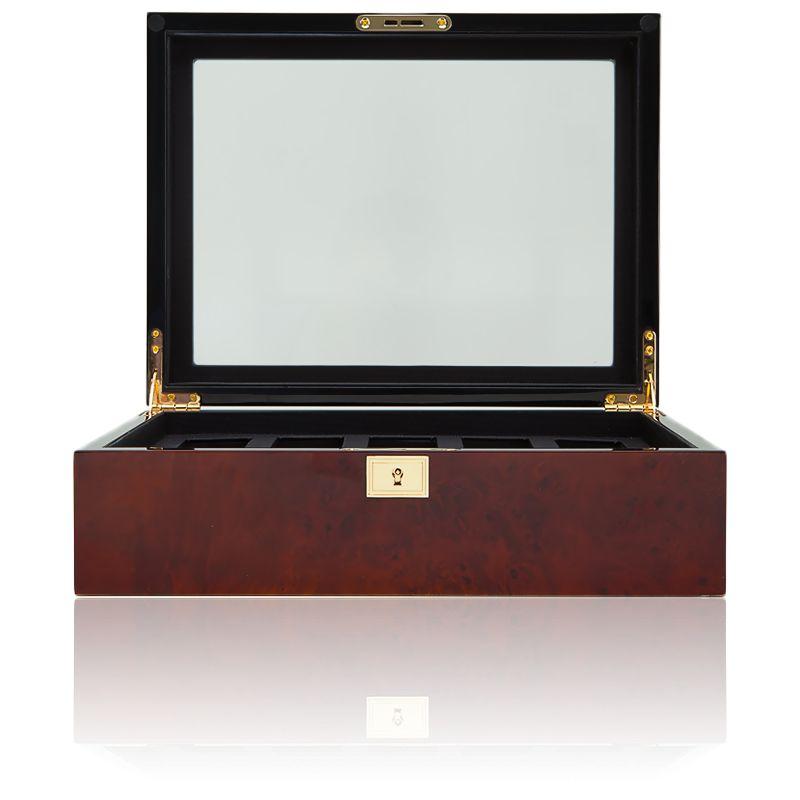 boita montre en bois ronce 5 montres savoy wolf ocarat. Black Bedroom Furniture Sets. Home Design Ideas