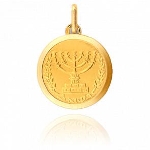 Médaille Menorah Or Jaune 9 ou 18 carats