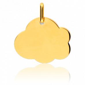 Médaille A Graver Nuage GM Or Jaune 18K