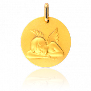 Médaille Ange Au Repos Or Jaune 18K