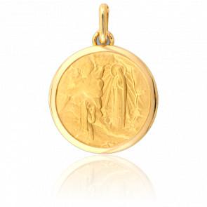 Médaille Sainte Bernadette à Lourdes Or Jaune 9K
