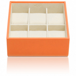 Coffret Standard Simili Cuir Orange 6 Montres Stackable Watch Trays