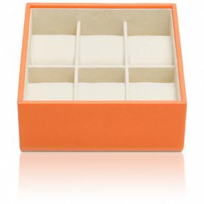 Coffret Standard Simili Cuir Orange 6 Montres Stackable Watch Trays