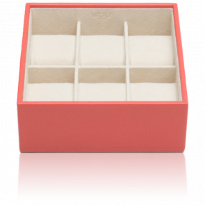 Coffret Standard Simili Cuir Corail 6 Montres Stackable Watch Trays