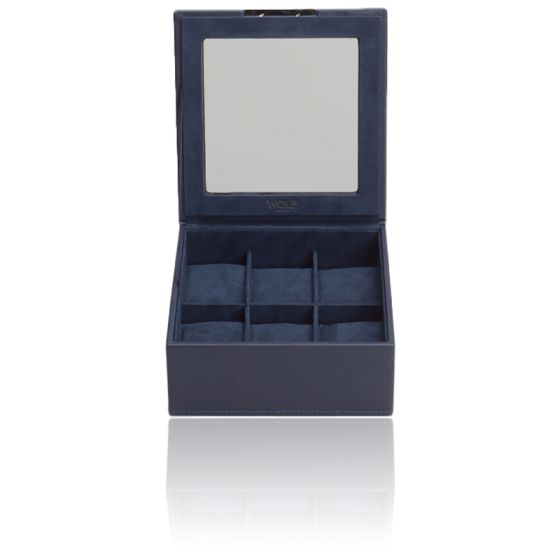 Coffret Simili Cuir Marine 6 Montres Stackable Watch Trays Couvercle
