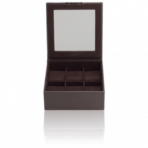 Coffret Simili Cuir Marron 6 Montres Stackable Watch Trays Couvercle