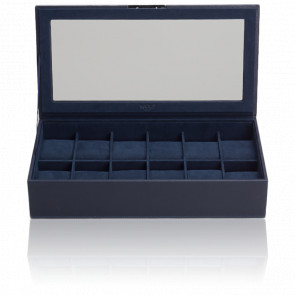 Coffret Simili Cuir Marine 12 Montres Couvercle Stackable Watch Trays