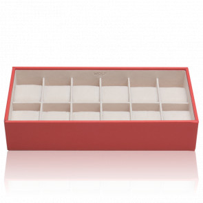 Coffret Standard Simili Cuir Corail 12 Montres Stackable Watch Trays