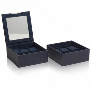 Coffret Simili Cuir Marine 2 Plateaux 12 Montres Stackable Watch Trays
