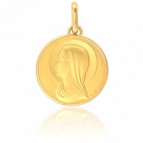Médaille Vierge de Profil Or Jaune 18K