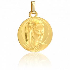 Médaille Ronde Vierge Or Jaune 9K