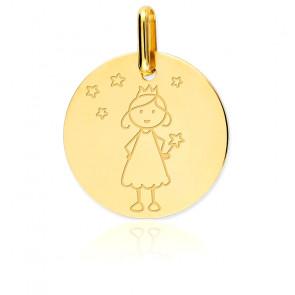 Médaille Fée Or Jaune 18K
