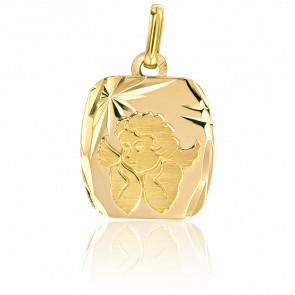 Médaille Rectangle Ange Raphaël Or Jaune 18K