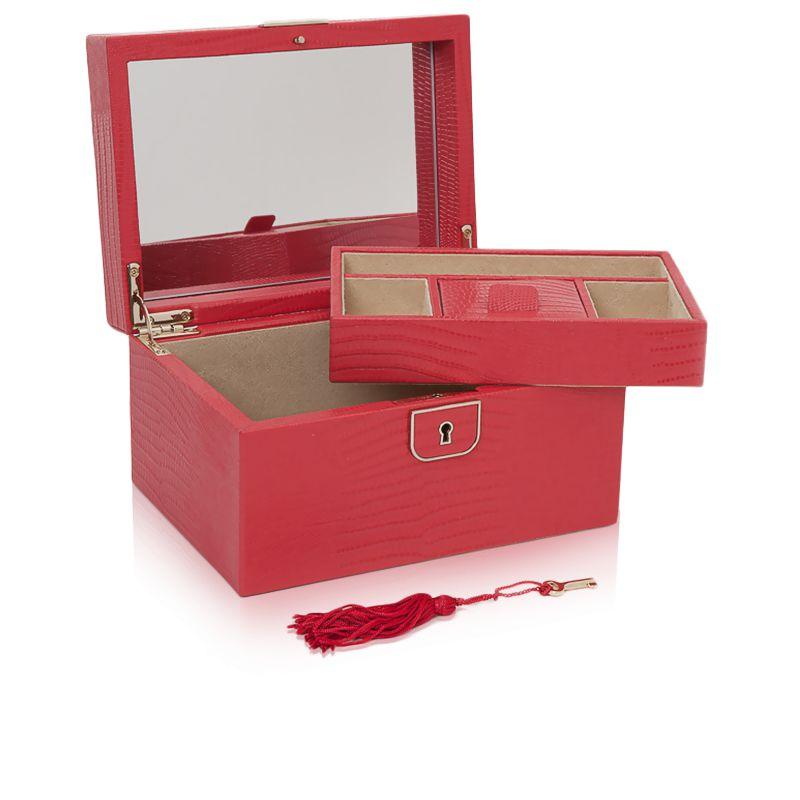 petite boite bijoux cuir corail palermo wolf ocarat. Black Bedroom Furniture Sets. Home Design Ideas