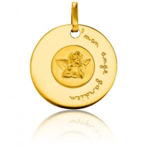 Médaille Mon Ange Gardien Or Jaune 18K