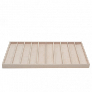Plateau Colliers Simili Cuir Beige Vault Tray